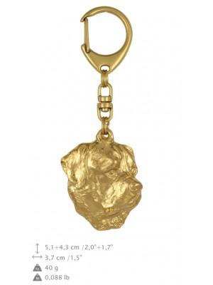 Rottweiler - keyring (gold plating) - 780 - 25005