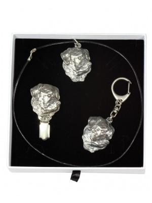 Rottweiler - keyring (silver plate) - 2060 - 17513