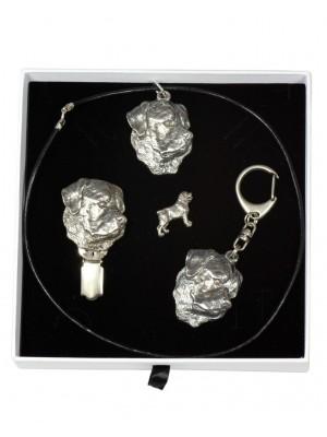 Rottweiler - keyring (silver plate) - 2086 - 18321