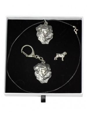Rottweiler - keyring (silver plate) - 2103 - 18781