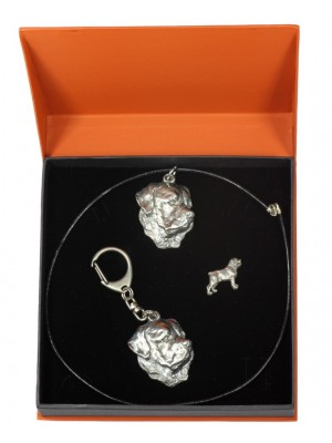 Rottweiler - keyring (silver plate) - 2313 - 24617
