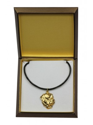 Rottweiler - necklace (gold plating) - 2463 - 27622