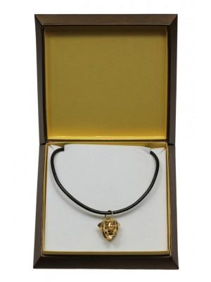 Rottweiler - necklace (gold plating) - 3070 - 31706