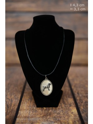Rottweiler - necklace (silver plate) - 3399 - 34780