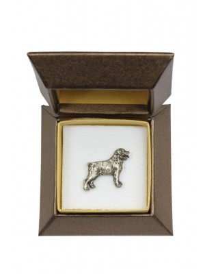 Rottweiler - pin (silver plate) - 2646 - 28928