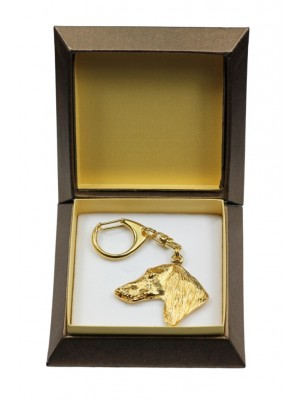 Saluki - keyring (gold plating) - 2843 - 30504