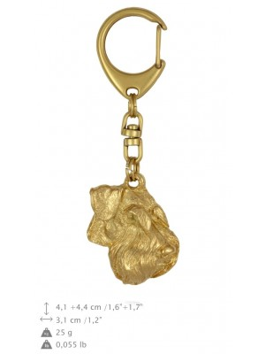 Schnauzer - keyring (gold plating) - 1731 - 25602