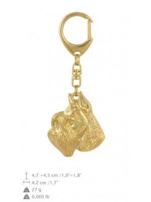 Schnauzer - keyring (gold plating) - 836 - 30034