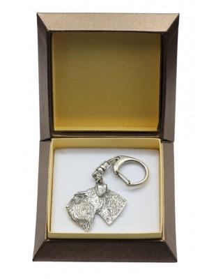 Schnauzer - keyring (silver plate) - 2827 - 29951