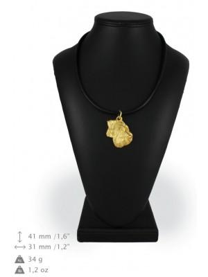 Schnauzer - necklace (gold plating) - 1716 - 25553