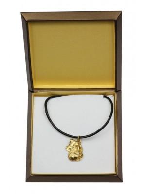 Schnauzer - necklace (gold plating) - 2530 - 27686