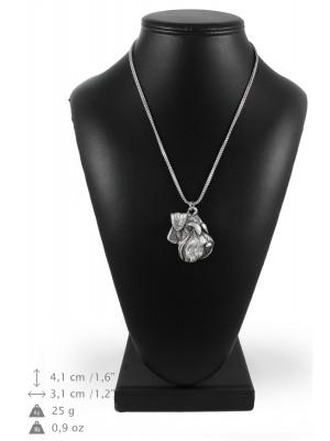 Schnauzer - necklace (silver chain) - 3372 - 34634