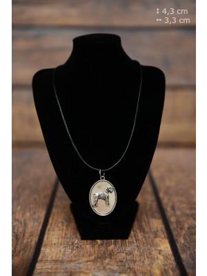 Schnauzer - necklace (silver plate) - 3384 - 34706