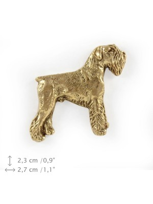 Schnauzer - pin (gold plating) - 1049 - 7775