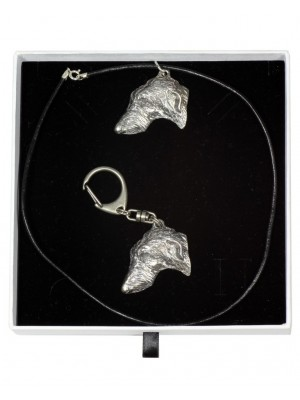 Scottish Deerhound - keyring (silver plate) - 2001 - 15949