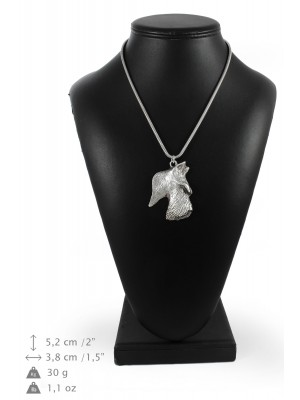 Scottish Terrier - necklace (silver cord) - 3203 - 33222