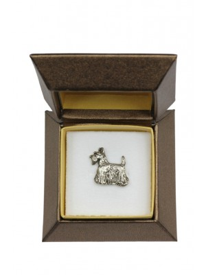 Scottish Terrier - pin (silver plate) - 2665 - 28947