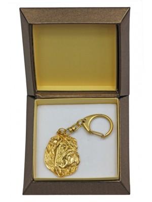 Shar Pei - keyring (gold plating) - 2401 - 27272