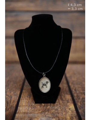 Shar Pei - necklace (silver plate) - 3420 - 34850