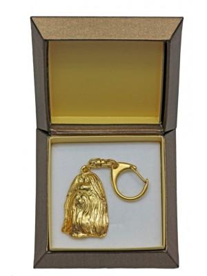 Shih Tzu - keyring (gold plating) - 2417 - 27288