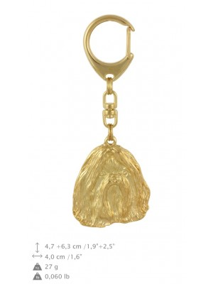 Shih Tzu - keyring (gold plating) - 783 - 29088