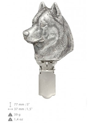 Siberian Husky - clip (silver plate) - 3 - 26176