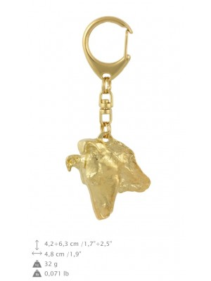 Smooth Collie - keyring (gold plating) - 865 - 30096