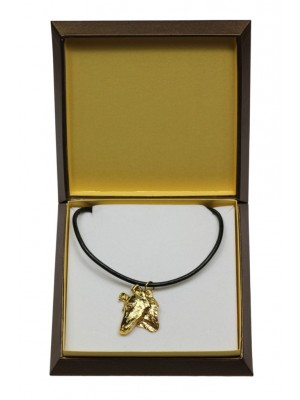 Smooth Collie - necklace (gold plating) - 3057 - 31693