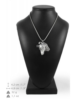 Smooth Collie - necklace (silver chain) - 3345 - 34580