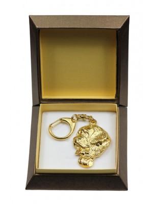 St. Bernard - keyring (gold plating) - 2871 - 30532