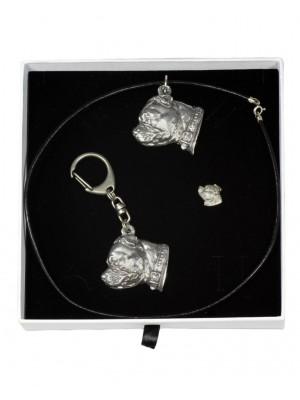 Staffordshire Bull Terrier - keyring (silver plate) - 2097 - 18632