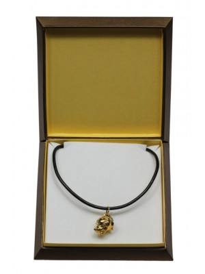 Staffordshire Bull Terrier - necklace (gold plating) - 3044 - 31680