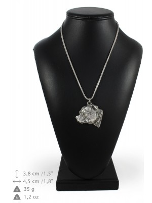 Staffordshire Bull Terrier - necklace (silver chain) - 3375 - 34641