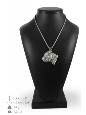 Staffordshire Bull Terrier - necklace (silver cord) - 3188 - 33190