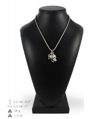 Staffordshire Bull Terrier - necklace (silver cord) - 3192 - 33197
