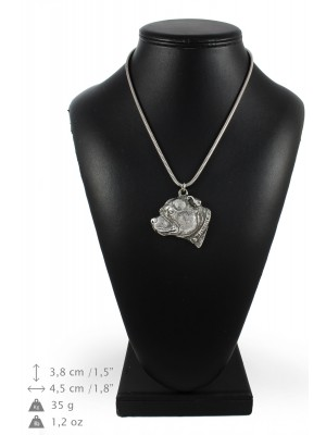 Staffordshire Bull Terrier - necklace (silver cord) - 3253 - 33402