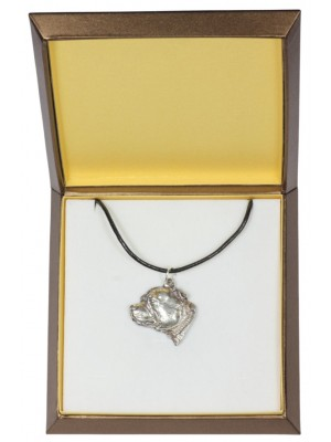 Staffordshire Bull Terrier - necklace (silver plate) - 3001 - 31144