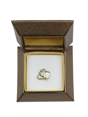 Staffordshire Bull Terrier - pin (silver plate) - 2673 - 28955