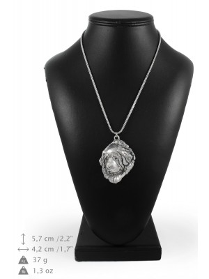 Tibetan Mastiff - necklace (silver chain) - 3367 - 34623