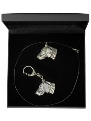 Weimaraner - keyring (silver plate) - 1784 - 11707