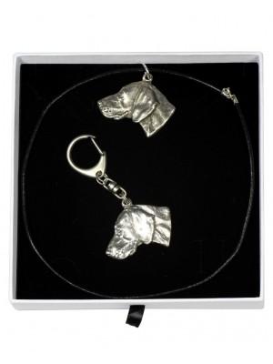 Weimaraner - keyring (silver plate) - 1967 - 15176