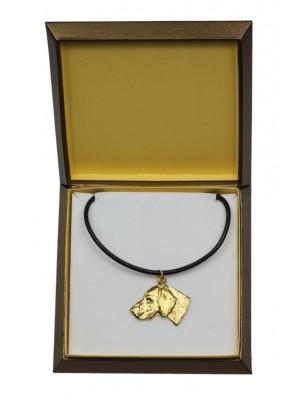 Weimaraner - necklace (gold plating) - 2486 - 27645