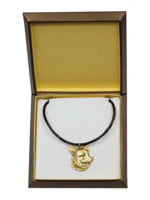 Welsh Corgi Cardigan - necklace (gold plating) - 2508 - 27667