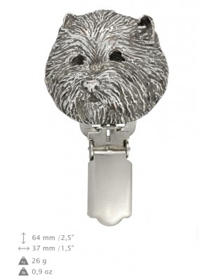 West Highland White Terrier - clip (silver plate) - 293 - 26392