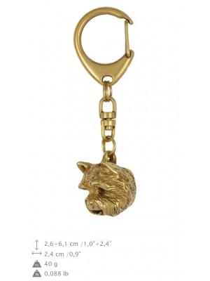 West Highland White Terrier - keyring (gold plating) - 883 - 25282