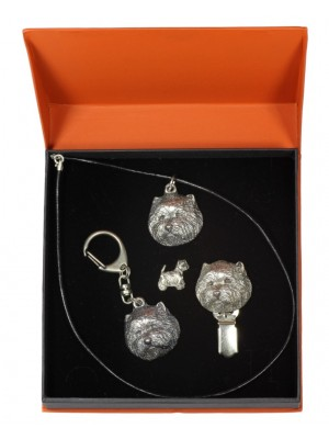 West Highland White Terrier - keyring (silver plate) - 2299 - 24231