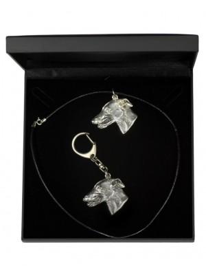 Whippet - keyring (silver plate) - 1775 - 11568