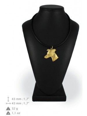 Whippet - necklace (gold plating) - 922 - 25359