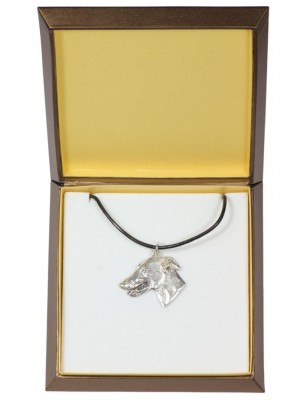 Whippet - necklace (silver plate) - 2930 - 31074