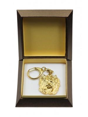 Yorkshire Terrier - keyring (gold plating) - 2854 - 30515
